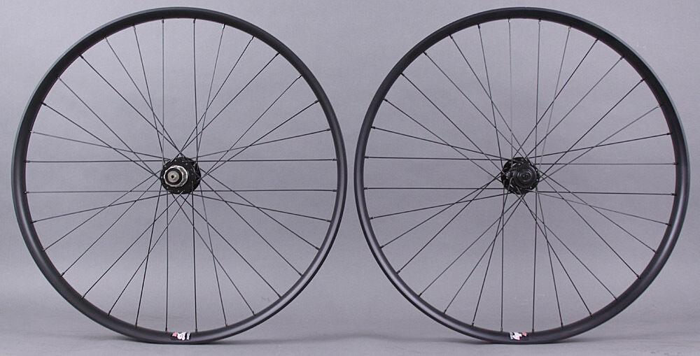 Velocity Dually 29er Mountain Bike Wheelset Novatec 4 in 1 Hubs Thru Axle and QR
