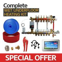Water Underfloor Heating -single Room Kit 20m2 With Pe-x Pipe Standard Output