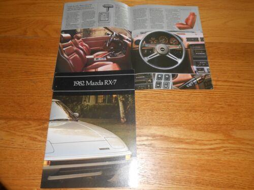 1982 MAZDA RX-7 GS /& GSL ORIGINAL 16 Page BROCHURE VINTAGE 82 SALES CATALOG