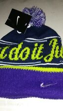 item 3 NIKE MENS Just Do It Knit Pom Beanie OSFM Purple Volt Black NWT -NIKE  MENS Just Do It Knit Pom Beanie OSFM Purple Volt Black NWT d15c449178f5