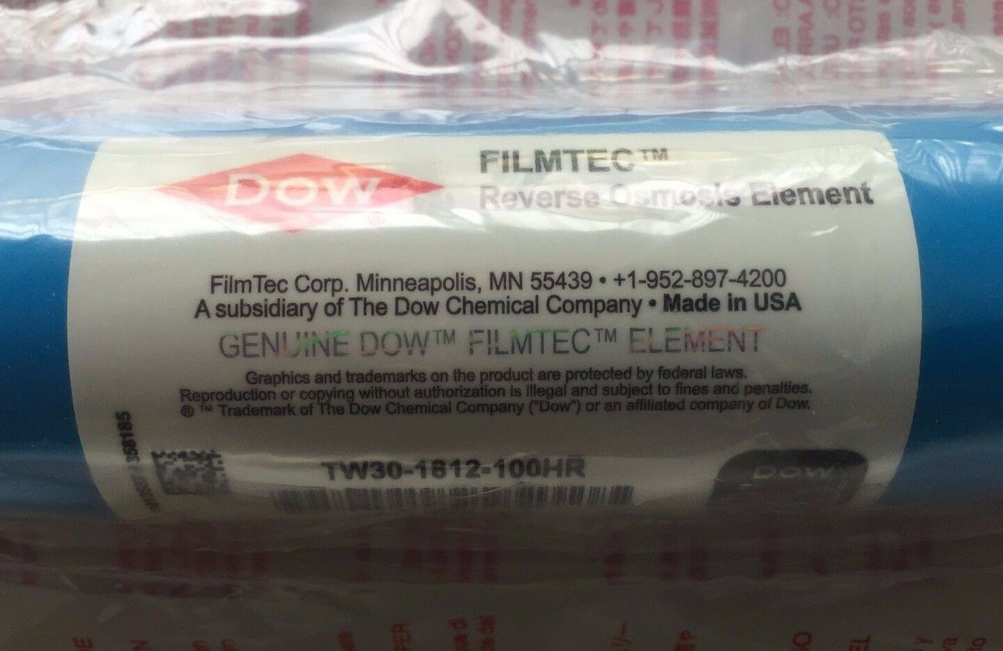 NEW FILMTEC RO MEMBRANE 100 GPD TW30-1812-100HR - CASE OF OF OF 25 FILTERS 2005dd