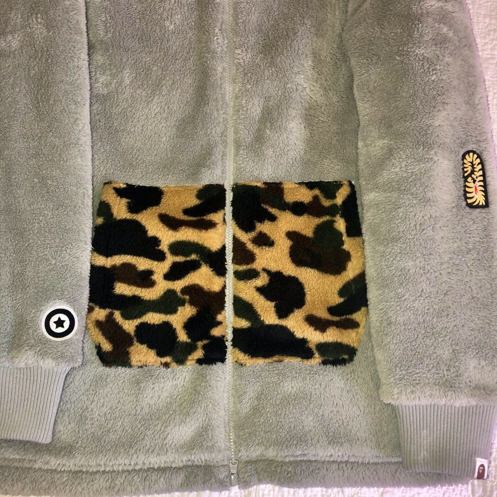 A Bathing Ape Fluffy hoodie Size Large