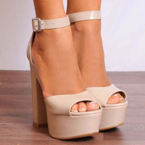 BABY LIGHT PINK WEDGED PLATFORMS STRAPPY SANDALS PEEP TOES HIGH HEELS SHOES