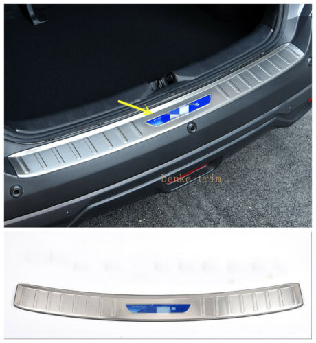 For Nissan KICKS 2017-2020 Stainless Outer Rear Bumper Protector Cover Trim