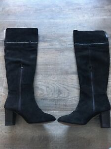 Monsoon Black Suede Knee High Boots