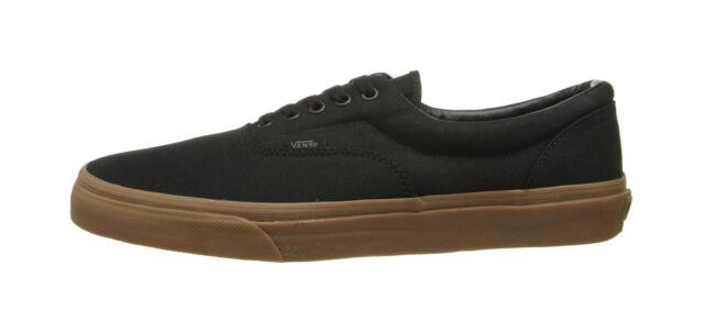 b3ca2bd741 Vans Unisex Women Men Canvas Shoes Era Black Classic Gum Bottom Black  Sneakers