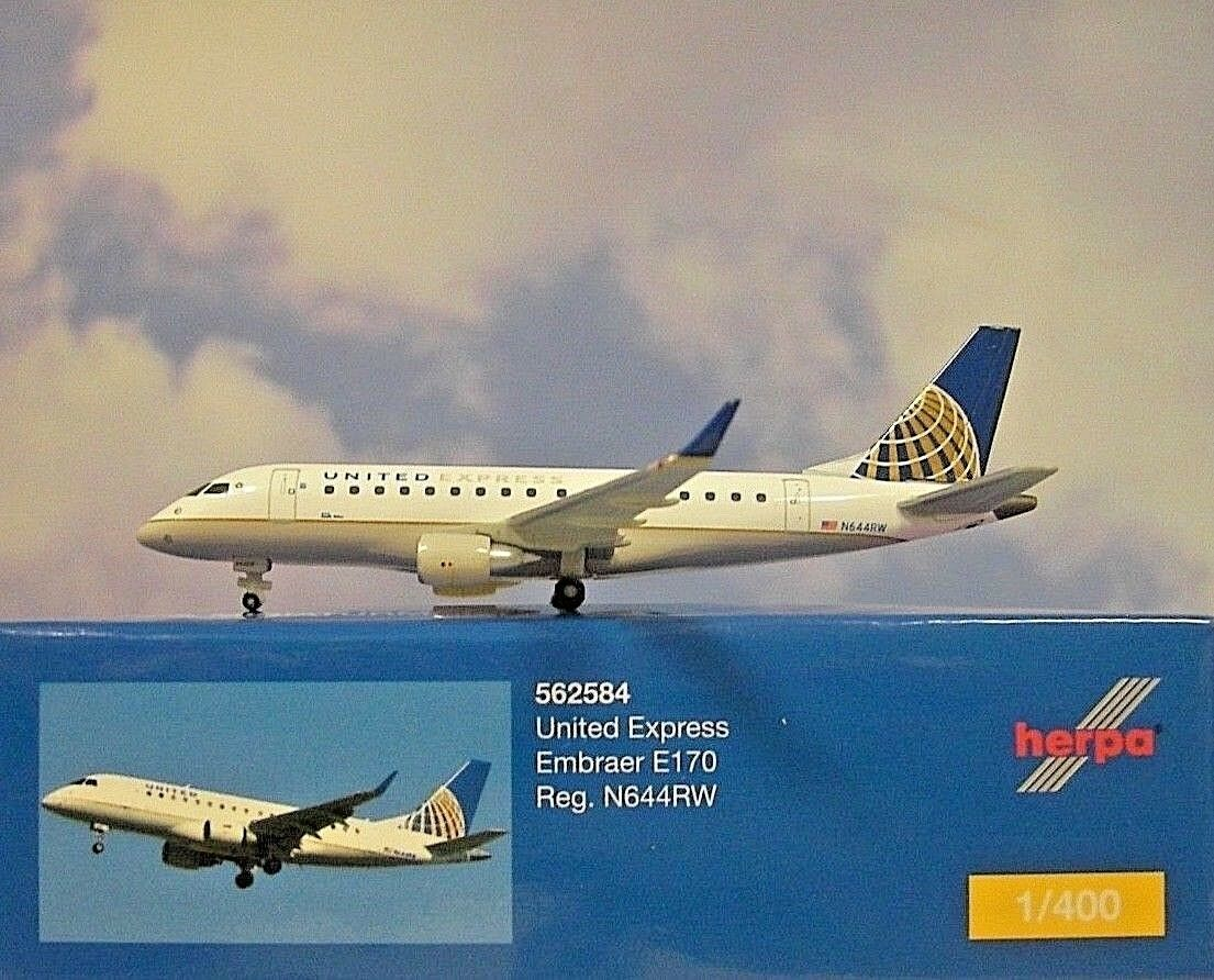 Herpa Ali 1 400 Embraer Embraer Embraer E170 United Express N644rw 562584 Modellairport500 baa3a4