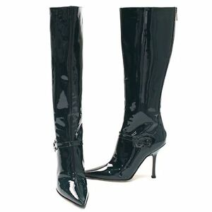 jimmy choo leather patent knee high dress boots