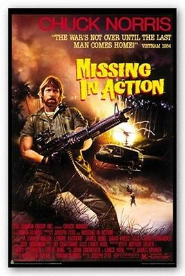MISSING IN ACTION Movie Poster  ~ Chuck Norris Full Size