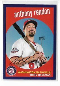 2018 topps archives baseball purple parallel /175 Anthony Rendon Washington