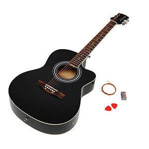 4 4 elektro akustik gitarre westerngitarre schwarz pickup 4 band eq tonabnehmer ebay. Black Bedroom Furniture Sets. Home Design Ideas