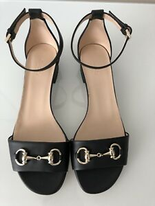 8e02218086f Gucci Horsebit Black leather Sandals EU38.5 RP£525 Princetown Sylvie ...