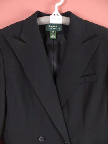 en Nwt peignée 250 noires laine poches Cj0308 12 veste Femme 100 Sz Ralph Lauren qXWddwnR8