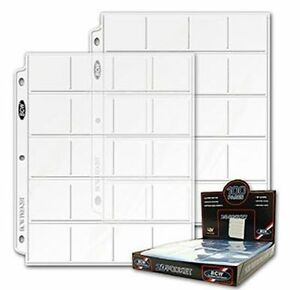 5-pages-BCW-coin-sheets-pages-20-2x2-pockets-per-sheet-FREE-SHIPPING-IN-CANADA