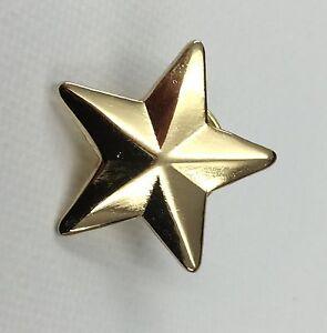 b520f72df31 Metal Enamel Pin Badge Brooch Star Gold 3d 5 Five Pointed Star ...