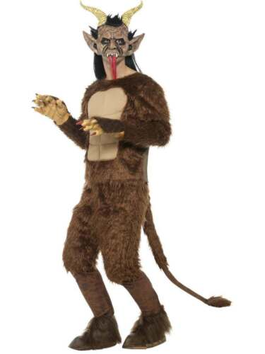 a lungo Pelo Pelliccia Halloween BESTIA//Krampus Costume da demone