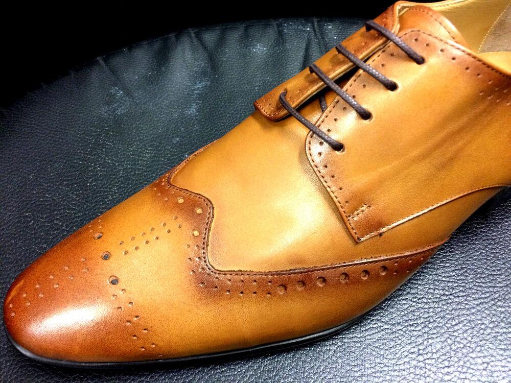 100% Chelsy Chaussures Italien Designer Mocassins Fait Main Marron Business