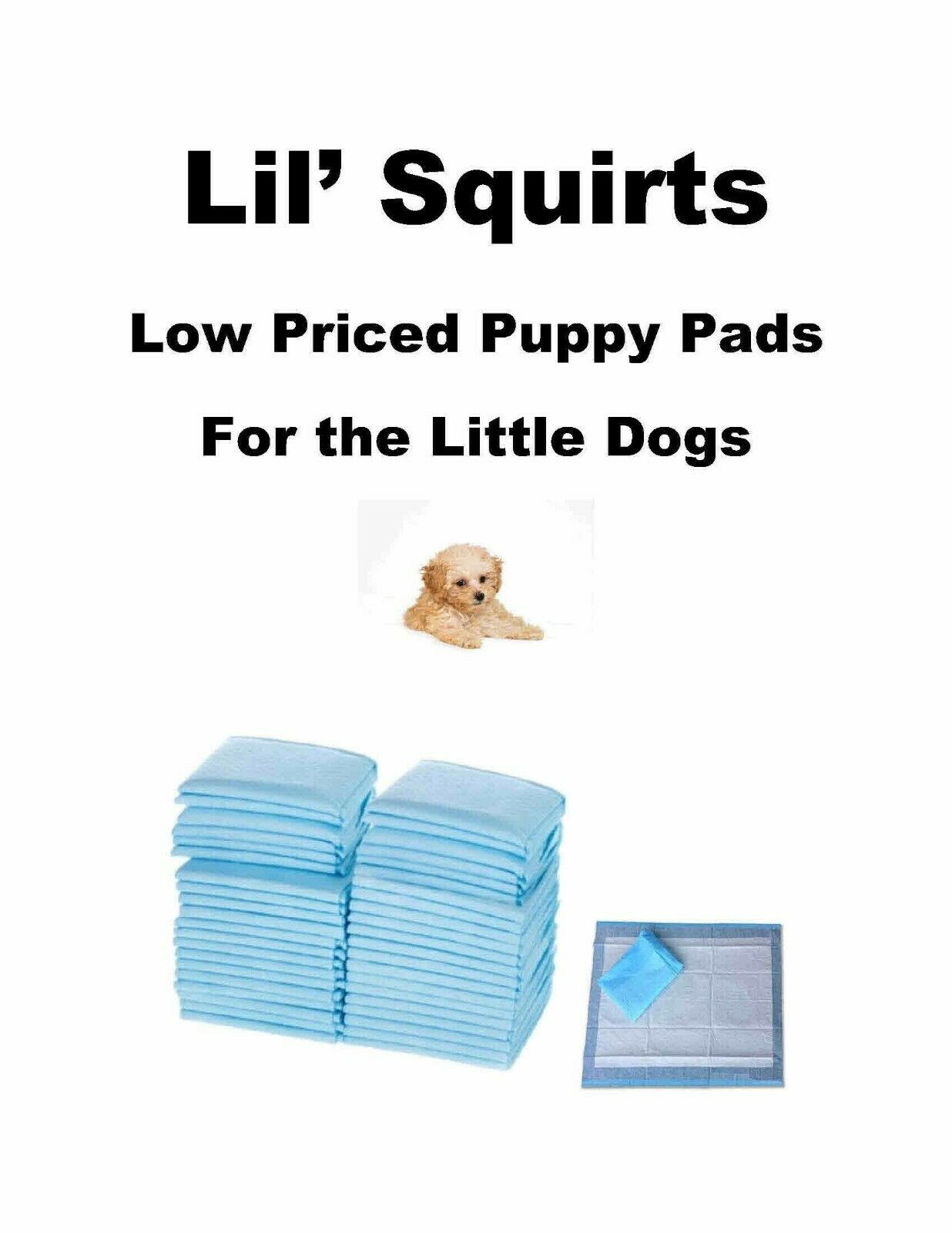 1200-17x24  Lil Squirts Lightweight Low Cost Puppy Training Pads