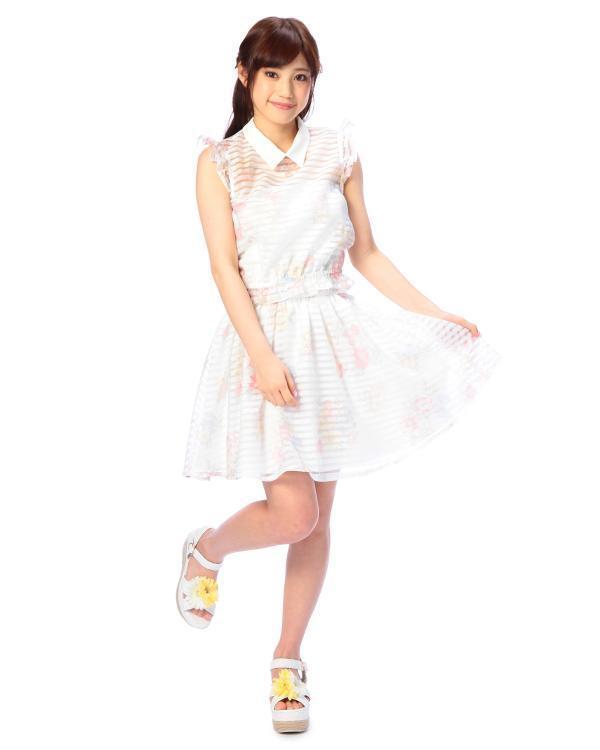 Genuine Liz Lisa Broder organza floral top and short skirt 2 piece set BNWT