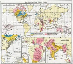 BRITISH EMPIRE. Canada, West Indies; Guinea; South Africa; India ...