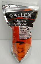 100 Pair Allen Molded Foam Ear Plugs Hearing Protection Hunting NPR 32 DB Boxx2 for sale online