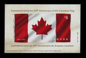 Canada-2015-Flag-Rayon-Fabric-Stamp-Unique-Unusual-Extraordinary-MNH