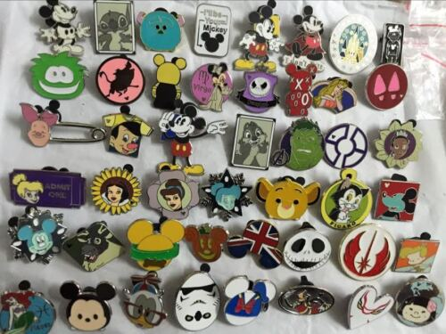 Walt Disney World Pins For Sale Set of 100 No Duplicates Trading Cast Member Pin