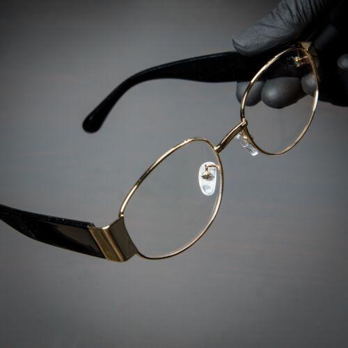 Mens Round Clear Lens Gold Vintage Old School Hip Hop Fashion Oval Glasses