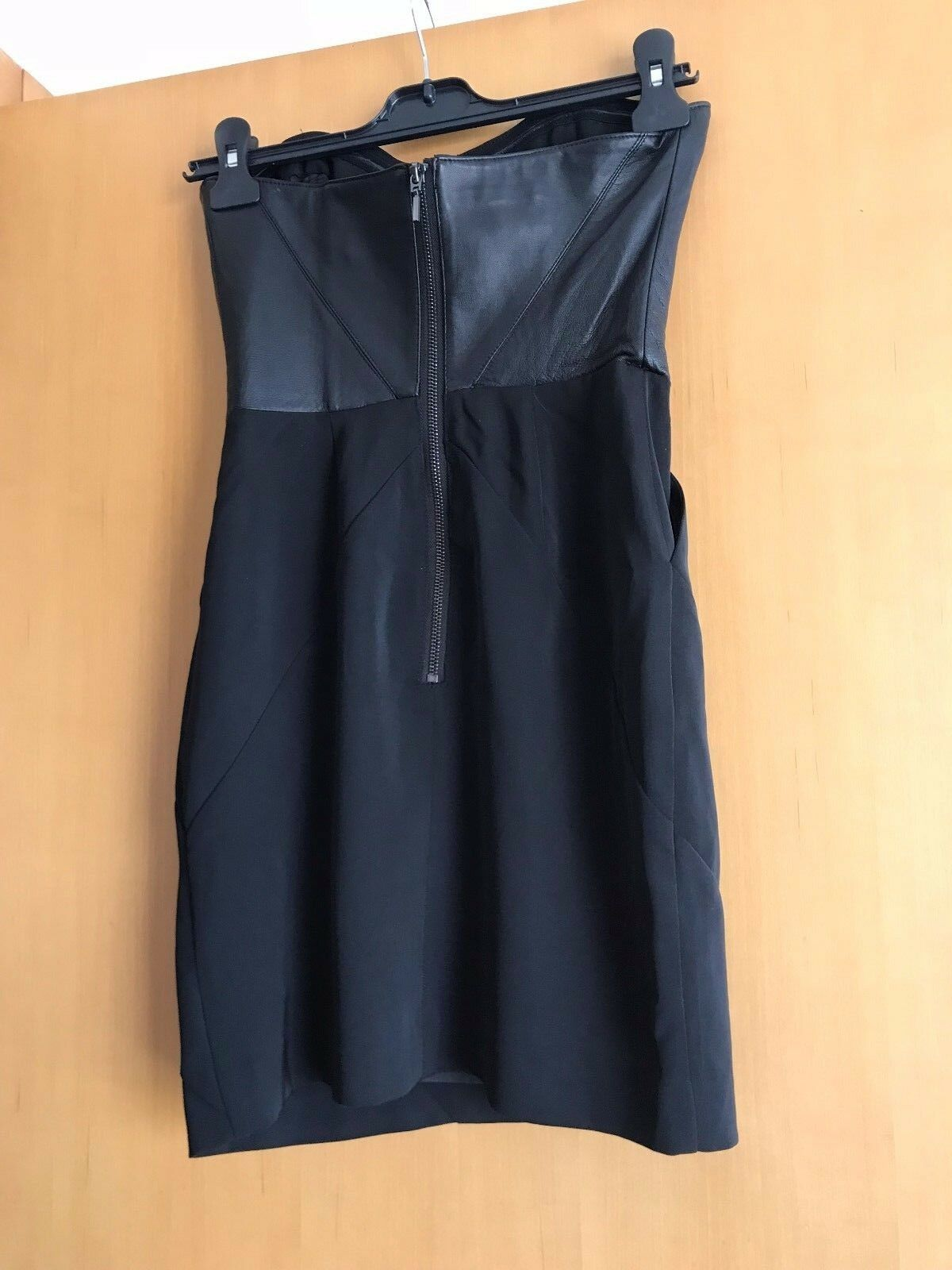 BEBE Strapless  Leather Bustier Pencil Wiggle Dress Größe