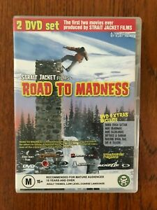 Road-To-Madness-Unleashed-DVD-Region-4-LIKE-NEW-Snowboard