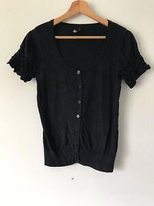 Topshop-Short-Sleeve-Cardigan-size-10-lt-V364