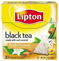 Lipton Pyramids, Vanilla Caramel 20 Ct, New, Free Shipping on sale