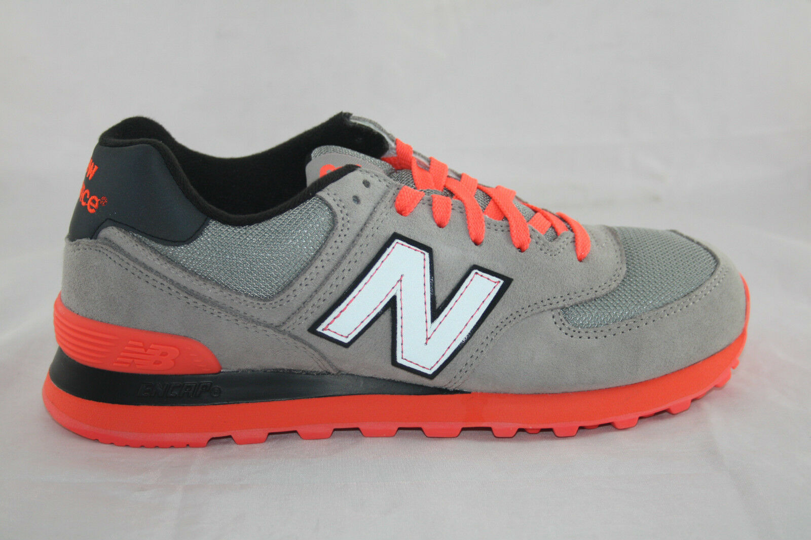hommes NEW BALANCE Chaussures ML574NRG GREY/NEON ORNAGE/ noir SIZE8~10