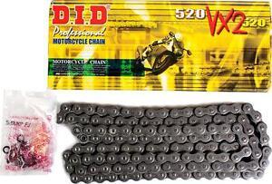 Catena-DID-con-guarnizioni-520-VX2-de-106-passa-y-chiusura-rivetto