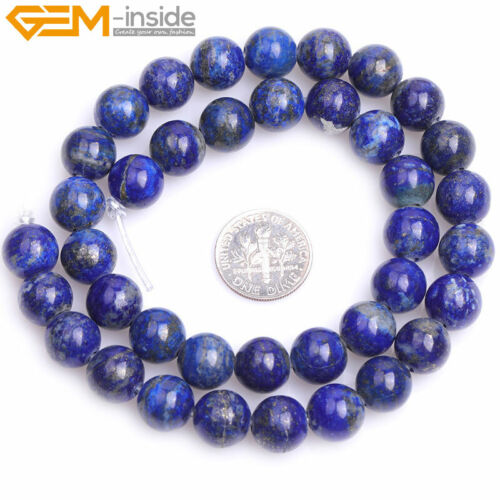 """Natural Round Blue Lapis Lazuli Beads For Jewelry Making Strand 15/"""" Wholesale"""