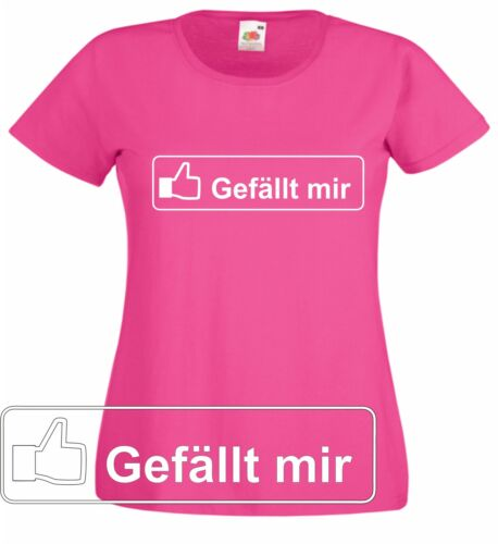 """Facebook fan t-shirt /""""me plaît/"""" ladyshirt beaucoup de couleurs possible."""