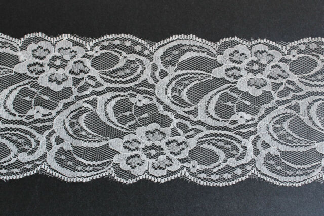 flower lace trim for invitation  off White (light ivory)