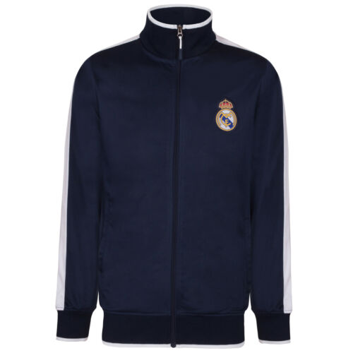 Real Madrid Official Football Gift Mens Retro Track Top Jacket