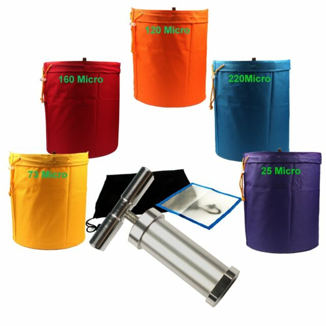 Casolly Bubble Hash Bags All Mesh 5 Gallon 3 Bag Herbal Hash Ice Bubble Bag Extractor Kit with Free Carrying Bag /& Pressing Screen