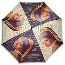 """""""Girl with a pearl earring""""long size automatic umbrella"""