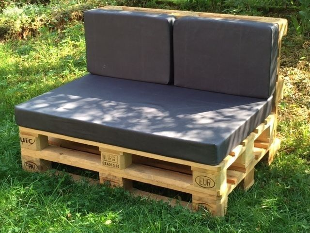 Paletten-Kissen Paletten-Polster groß für Sitzfläche DIY Stoff = wasserabweisend