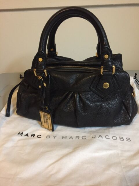 8955d9873c4b NWOT MARC by MARC JACOBS Classic Q Baby Groovee Leather Satchel BLACK AUTH  $378