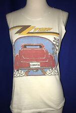 vintage 1983 ZZ Top Eliminator 500 TOUR CONCERT TSHIRT SLEEVES CUT LARGE shirt