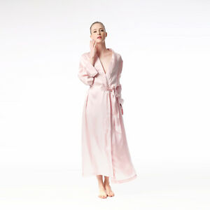 Jasmine-Silk-Femmes-039-Pure-Soie-Robe-de-Chambre