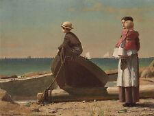 WINSLOW HOMER AMERICAN KEY WEST HAULING ANCHOR OLD ART PAINTING POSTER BB6551A