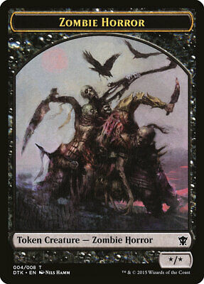 4x Zombie Army Token 008//019 Single Zombie MTG War Of The Spark NM Magic Reg