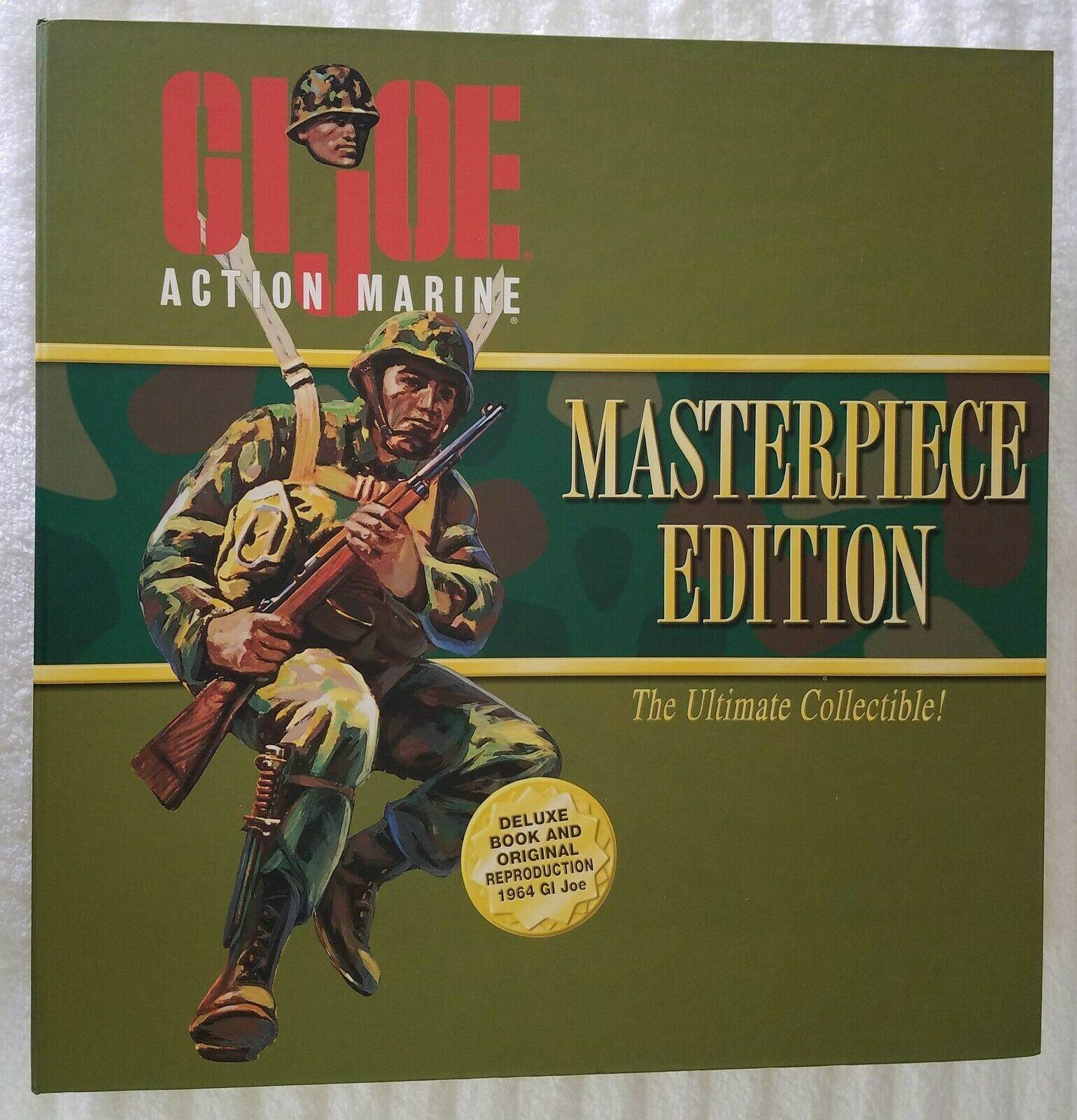 G.I. JOE MASTERPIECE EDITION ACTION MARINE AFRICAN AMERICAN + GI JOE BOOK