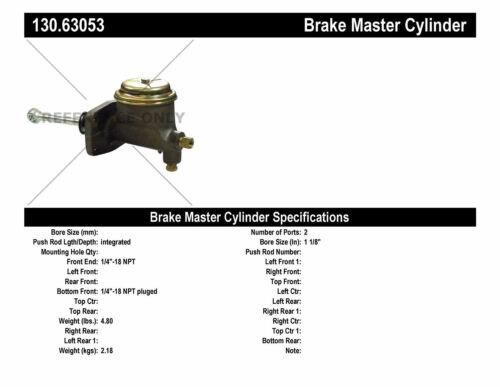 Brake Master Cylinder-Premium Master Cylinder Preferred Centric 130.63053