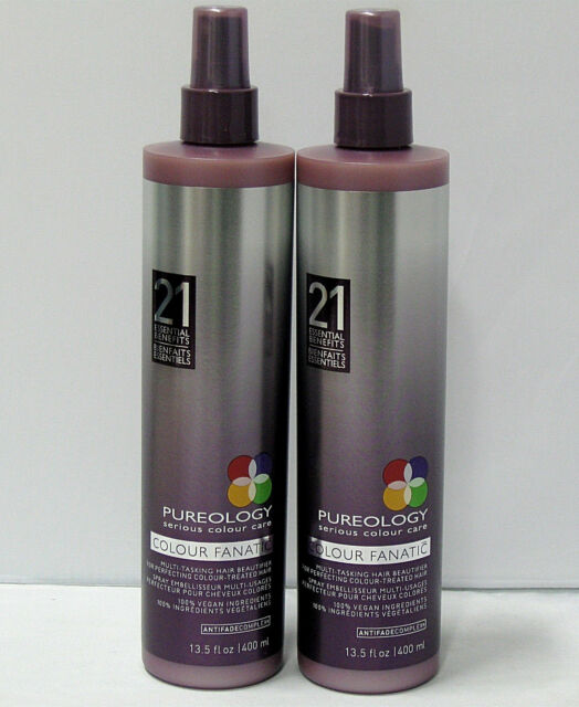 2 X Pureology Colour Fanatic Leave In Condition 21 Benefits 13.5 oz Lg Pro Size