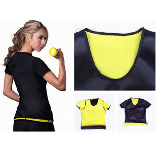 Herren Sweat  Muskel T-Shirt Neopren Abnehmen body Shaper Fitness Slim Fit JO